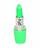 Feestartikelen schmink lippenstift neon groen trend