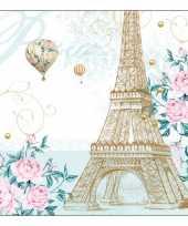 Feestartikelen servetten frankrijk thema 20 stuks trend