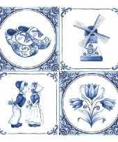 Feestartikelen servetten holland thema 40 stuks trend
