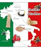 Feestartikelen servetten italie thema 20 stuks trend