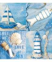 Feestartikelen servetten maritiem thema 20 stuks trend