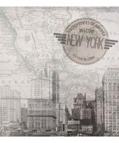 Feestartikelen servetten new york thema 20 stuks trend