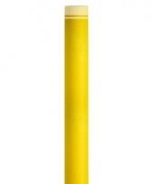 Feestartikelen tafelloper geel trend