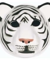 Feestartikelen tijger masker wit trend