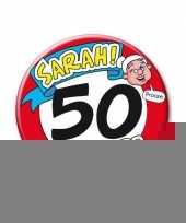 Feestartikelen xxl 50 jaar verjaardags sarah button trend