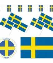 Feestartikelen zweden versiering pakket trend