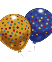Feestballonnen gekleurd met stippen 8 st trend