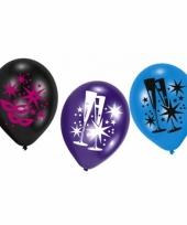 Feestballonnen nieuwjaarsfeest 6 stuks trend