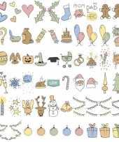 Feestdagen emoticons voor in a6 lichtbak trend