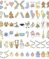 Feestdagen emoticons voor in lichtbak trend