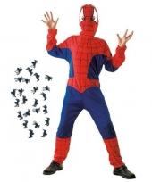 Feestkleding spinnenman met spinnen maat l voor kinderen trend