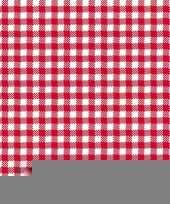 Feestservetten geruit rood wit 3 laags 20 stuks trend