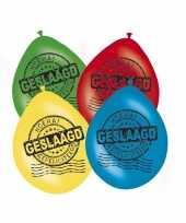 Feestversiering afgestudeerd ballonnen 8x trend 10087957