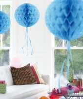 Feestversiering baby blauwe decoratie bol 30 cm trend