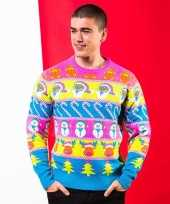 Fel gekleurde kerst trui voor heren trend