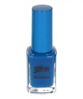 Felblauw nagellak van saffron trend