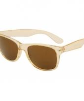 Festival zonnebril champagne met goudkleurige glazen trend