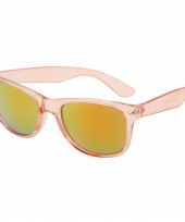 Festival zonnebril roze met olie kleur glazen trend