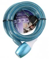 Fiets spiraalslot blauw trend