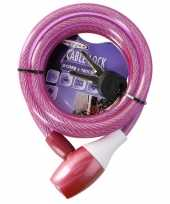 Fiets spiraalslot roze trend