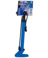 Fietspomp blauw dubbel ventiel trend
