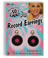Fifties elpee oorbelletjes trend