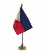 Filipijnen tafelvlaggetje 10 x 15 cm met standaard trend