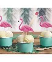 Flamingo cocktailprikkers 6 stuks trend