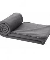 Fleece deken grijs 150 x 120 cm trend