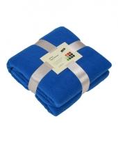 Fleece deken kobaltblauw trend