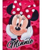 Fleece deken minnie mouse rood 90 x 120 cm trend