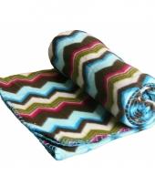 Fleece deken zigzag strepen trend