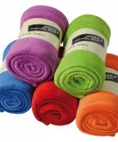 Fleece kleden in diverse kleuren trend