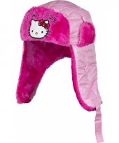 Fleece muts roze hello kitty trend