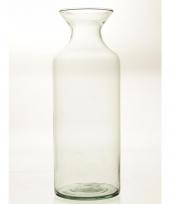 Flesvormige vaas glas 39 cm trend