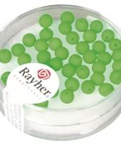Fluoriserende groene kralen van 4 mm trend