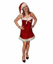 Fluwelen kerstjurkje inclusief kerstmuts trend