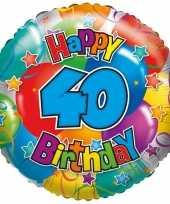 Folie ballon 40 jaar 35 cm trend