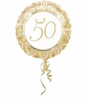 Folie ballon 50 goud 45 cm trend