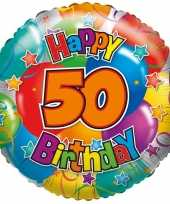 Folie ballon 50 jaar 45 cm trend