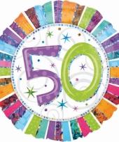 Folie ballon 50 jaar met helium trend