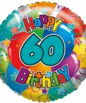 Folie ballon 60 jaar 45 cm trend