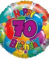 Folie ballon 70 jaar 45 cm trend