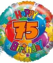 Folie ballon 75 jaar 45 cm trend