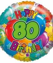 Folie ballon 80 jaar 45 cm trend