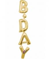 Folie ballon birthday goud 96 cm trend