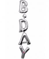 Folie ballon birthday zilver 96 cm trend
