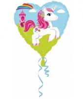 Folie ballon eenhoorn hart 43 cm trend