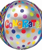 Folie ballon gefeliciteerd 40 cm trend