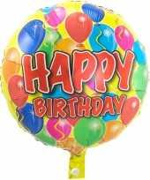 Folie ballon gefeliciteerd happy birthday ballonnen 45 cm met helium gevuld trend